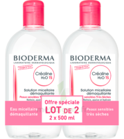 Crealine Ts H2o Solution Micellaire Sans Parfum Nettoyante Apaisante 2fl/500ml à LIEUSAINT