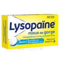 LysopaÏne Comprimés à Sucer Maux De Gorge Sans Sucre 2t/18 à LIEUSAINT