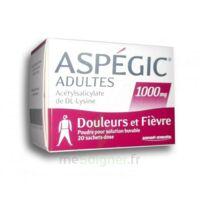 Aspegic Adultes 1000 Mg, Poudre Pour Solution Buvable En Sachet-dose 20 à LIEUSAINT