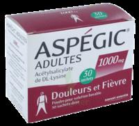 Aspegic Adultes 1000 Mg, Poudre Pour Solution Buvable En Sachet-dose 30 à LIEUSAINT