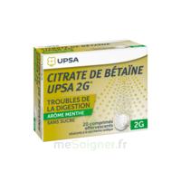 Citrate De Bétaïne Upsa 2 G Comprimés Effervescents Sans Sucre Menthe édulcoré à La Saccharine Sodique T/20 à LIEUSAINT