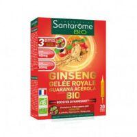 Santarome Bio Ginseng Gelée Royale Guarana Acérola Solution Buvable 20 Ampoules/10ml à LIEUSAINT