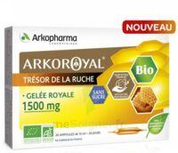 Arkoroyal Gelée Royale Bio Sans Sucre 1500mg Solution Buvable 20 Ampoules/10ml à LIEUSAINT