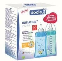 Dodie Initiation+ Biberon Tétine 3vitesses Débit 2 Bleu 270ml Coffret/2 à LIEUSAINT