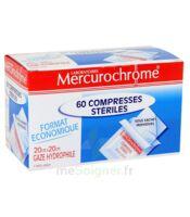 Mercurochrome 60 Compresses Stériles 20cm X 20cm à LIEUSAINT