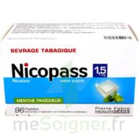 Nicopass 1,5 Mg Pastille Sans Sucre Menthe Fraîcheur Plq/96 à LIEUSAINT