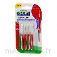 Gum Trav - Ler, 0,8 Mm, Manche Rouge , Blister 4 à LIEUSAINT