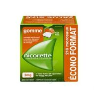 Nicorette 2 Mg Gomme à Mâcher Médicamenteuse Sans Sucre Fruits Plq/210 à LIEUSAINT