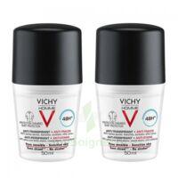 Vichy Homme Déodorant Anti-transpirant Anti Trace 48h 2*billes/50ml à LIEUSAINT