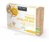 Nat&form Ampoules Solution Buvable Tonus Vitalité Bio 20 Ampoules/10ml à LIEUSAINT