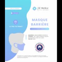 Masque Barrière Non Médical Adulte Blancs B/6 à LIEUSAINT
