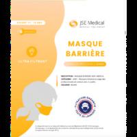 Masque Barrière Non Médical Enfant (11/16 Ans) Blancs B/6 à LIEUSAINT